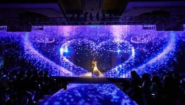 Clear Plastic Holographic Projection Film For Concert Exhibition and Family movie