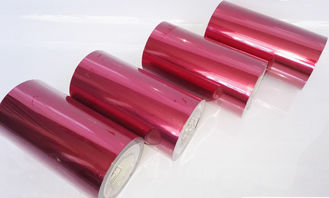 Special Tape Colored Pet Film , Heat Resistance Red Colored Plastic Film